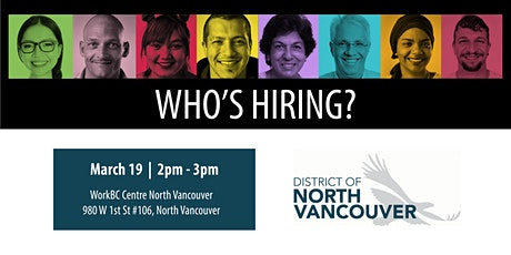 Who's Hiring? District of North Vancouver tickets