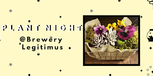 Create a Succulent Pansy Planter- PlantHer Plant Night @ Brewery Legitimus