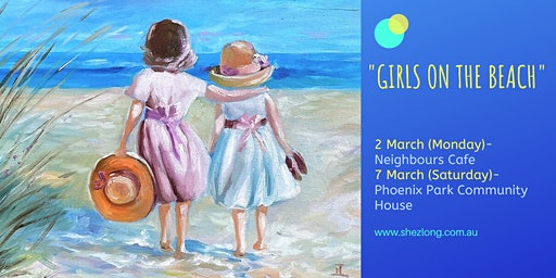 GIRLS ON THE BEACH- coffee and paint workshop
