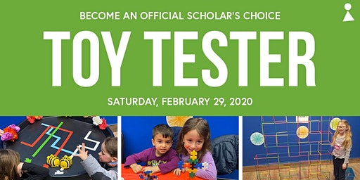 Become a Toy Tester with Scholar's Choice - Moncton