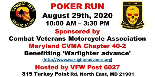 CVMA 40-2 Poker Run - Charity Event