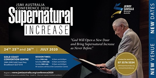 JSMI Australia Conference 2020  - Supernatural Increase