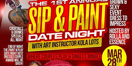 Paint N Play Presents  Sip & Paint Date Night Edition