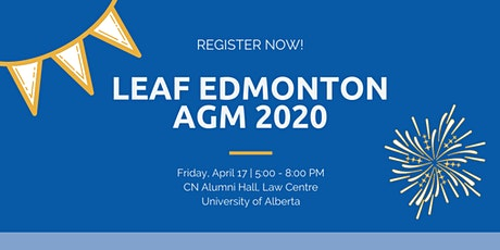 2020 LEAF Edmonton AGM tickets