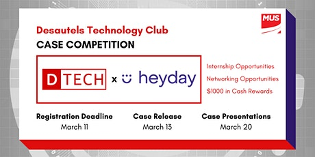 DTECH x Heyday.ai Case Competition tickets