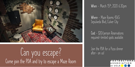Escape Room PDA Event tickets