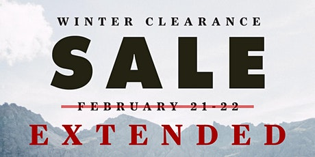 EXTENDED - Winter Clearance Sale! tickets
