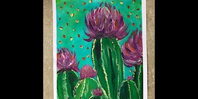 The Art Social- Cactus Paint & Sip Night