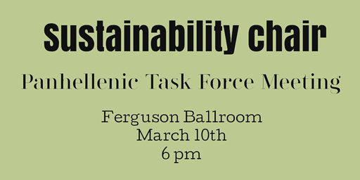 Sustainability Chair Task Force Meeting