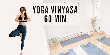 Cours de Yoga Vinyasa (60 min) tickets