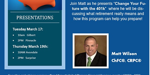 401k Seminar with Matt Wilson