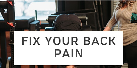 Fix My Back Pain tickets
