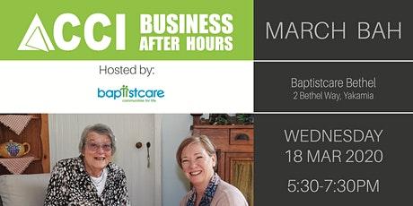 March ACCI Business After Hours tickets