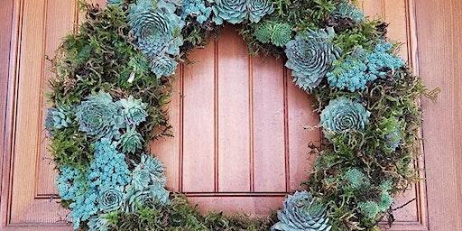 Living Succulent Wreath Class