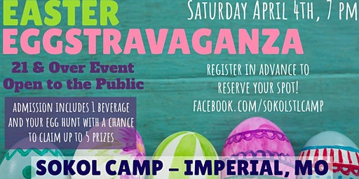 Adult Easter Eggstravaganza at Sokol Camp