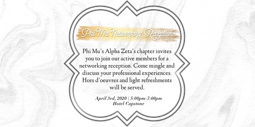Phi Mu Networking Reception