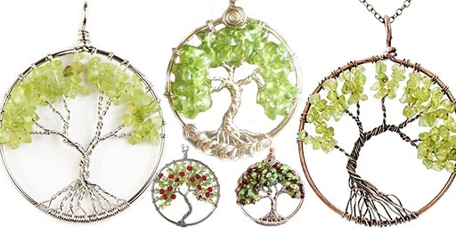 Peridot Tree of LIfe Wire Wrap Class -Marggi Markowitz-Ipso Facto-April 26