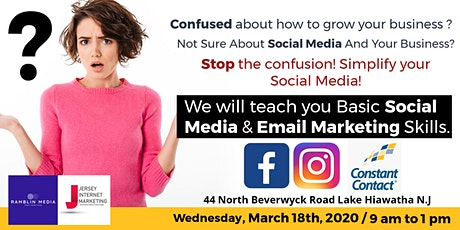 """Social Media and Email Marketing For Small Businesses! """"Beginners"""" tickets"""