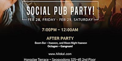 Social Pub Party!(Hongdae)