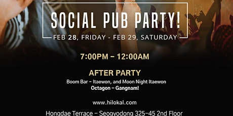 Social Pub Party!(Hongdae) tickets