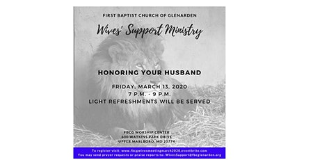 FBCG Wives' Support Ministry - March 2020 Meeting and Teaching Session tickets