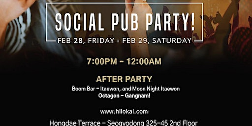 Social Pub Party!(Hongdae)