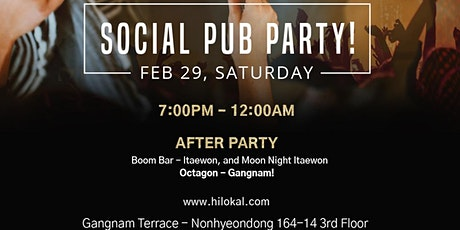 Social Pub Party!(Gangnam) tickets