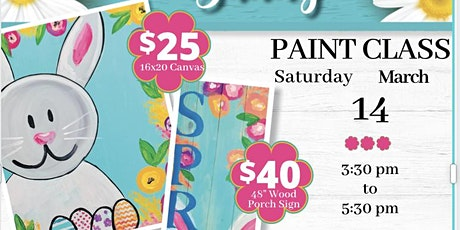 Spring Bunny Painting Class tickets
