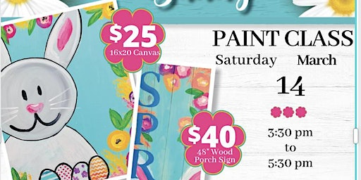 Spring Bunny Painting Class