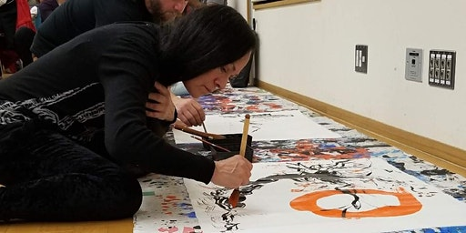 Painting the Enso Workshop with Michele Benzamin-Miki