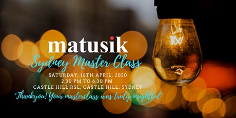Matusik Sydney Master Class : Saturday 18th April 2020 tickets