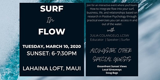 Surf in Flow - Find your flow in and out of the surf!