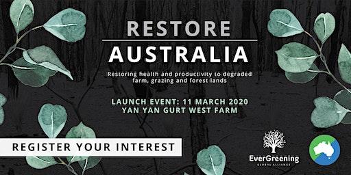 Restore Australia - Campaign Launch