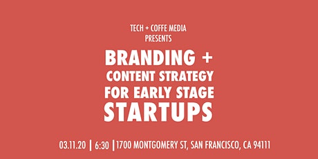 Branding + Content Strategy For Early Stage Startups tickets