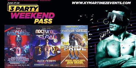 3 party pass SF Gay pride weekend tickets