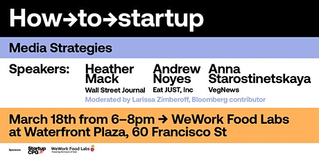How-to Startup: Media Strategies tickets