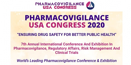 Pharmacovigilance USA 2020 tickets