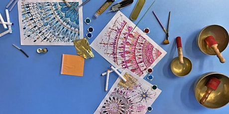 Mandalas 'n' Meditation™ - Mixed-Media Fine-Design Studio Class in Milton tickets