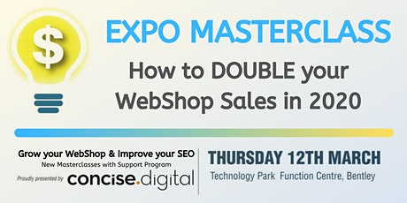 How to DOUBLE your WebShop Sales in 2020 tickets
