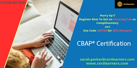 CBAP 3 Days Classroom Certification Training in Chester,England,UK tickets