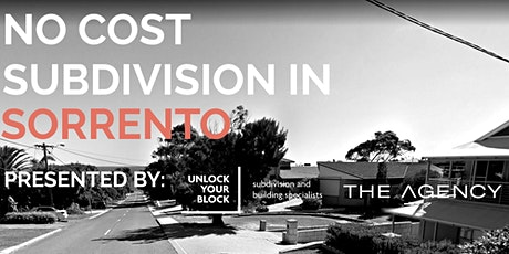 No Cost Subdivision in Sorrento tickets