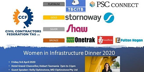 Civil Contractors Federation Tasmania Women in Infrastructure Dinner 2020 tickets