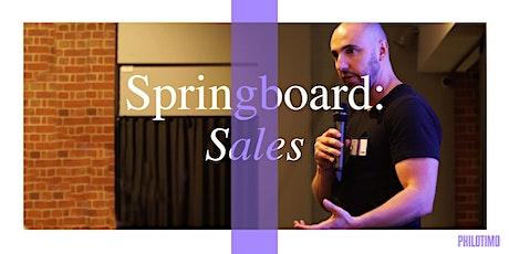 Philotimo Springboard: Sales tickets