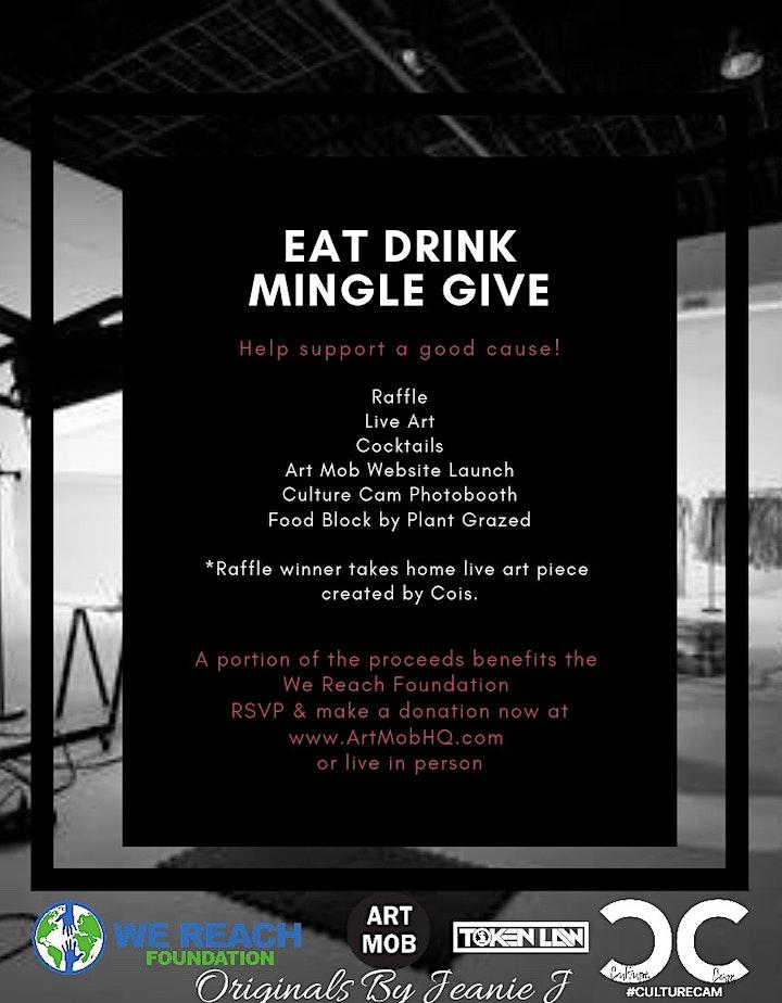 Eat Mingle Drink Give image