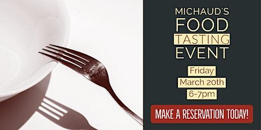 Michaud's Food Tasting Event