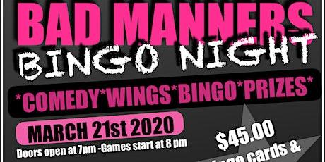 BAD MANNERS BINGO NIGHT tickets