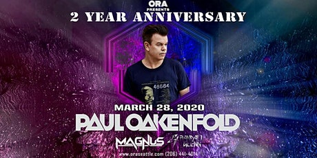 Paul Oakenfold at Ora tickets