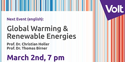 """Volt meets Experts: """"Renewable Energy"""" by Prof. Holler and Prof. Birner"""