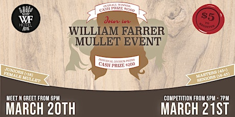 William Farrer Hotel Mullet Competition tickets