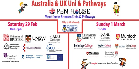 Australia/UK Unis & Pathways Info & Appln Day  tickets